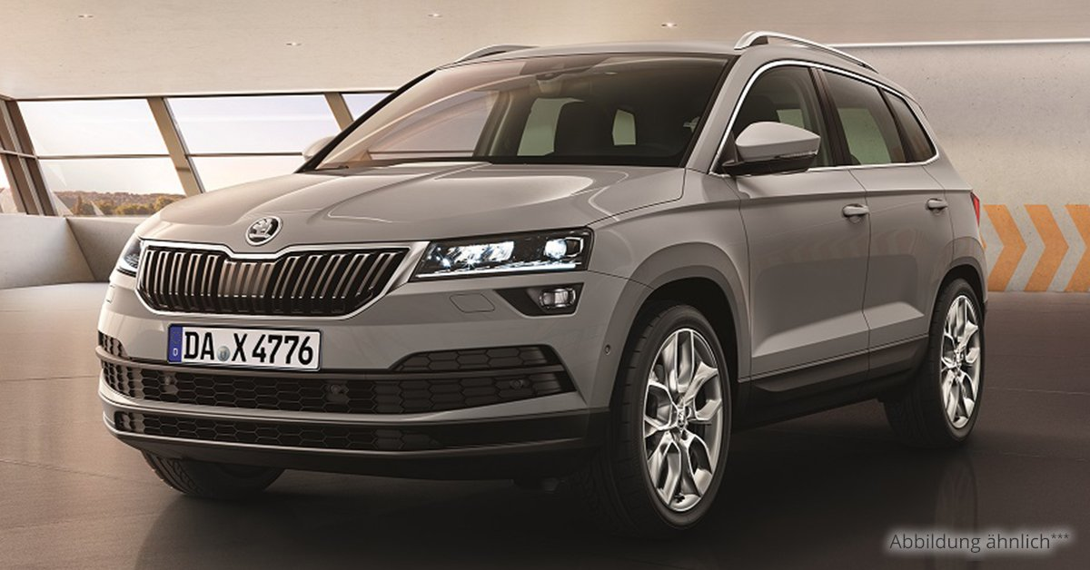 skoda karoq ambition 1 6 tdi scr 6 gang leasing ab 178 00. Black Bedroom Furniture Sets. Home Design Ideas