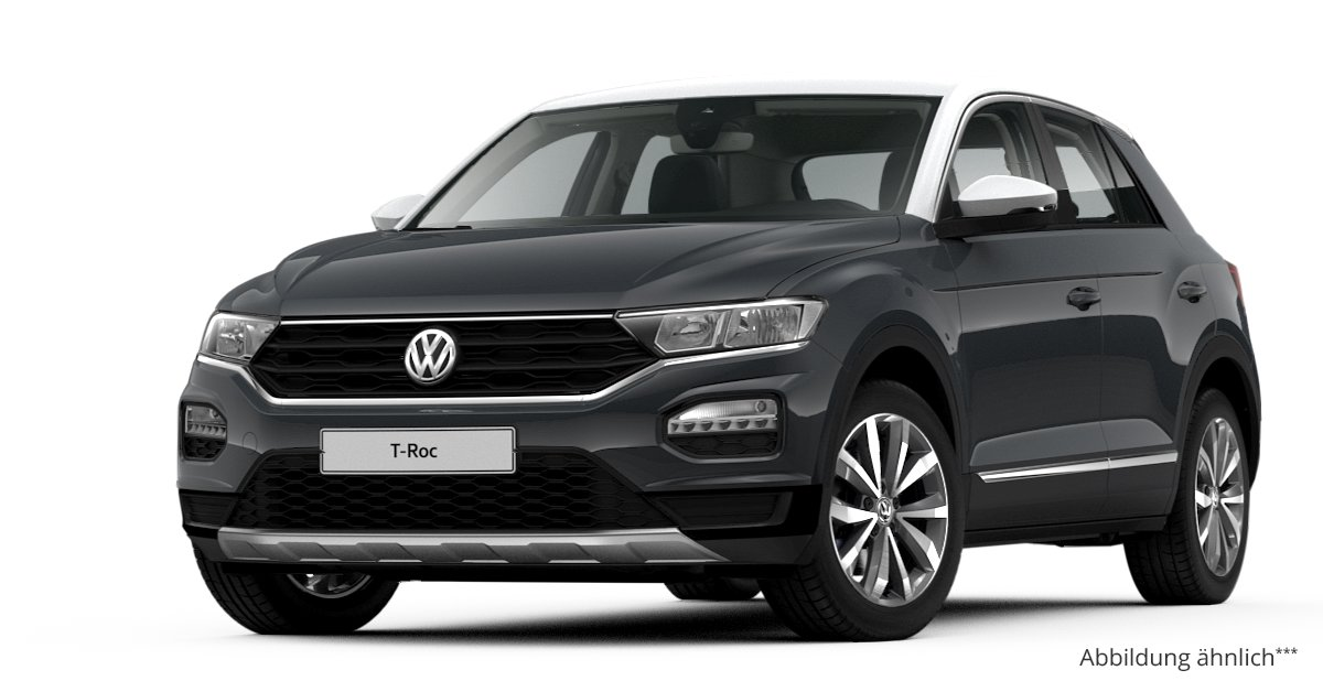 vw t roc 1 0 tsi opf 6 gang leasing ab 152 00. Black Bedroom Furniture Sets. Home Design Ideas